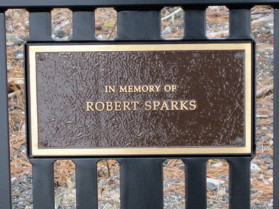 Plaque on the bench