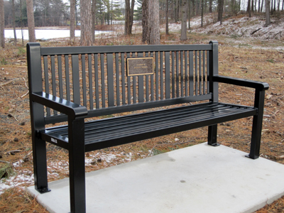 Bench in memory of Bob Sparks