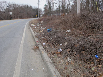 Litter on Routes 9 and 30