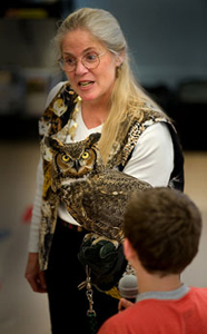 Marcia with owl