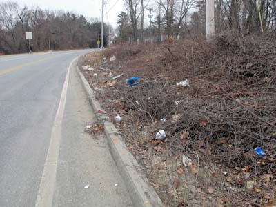 Route 30 before clean-up