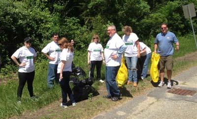 Volunteers from Berkshire Bank