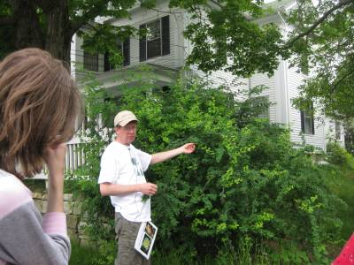 Scott Shumway leading tree walk
