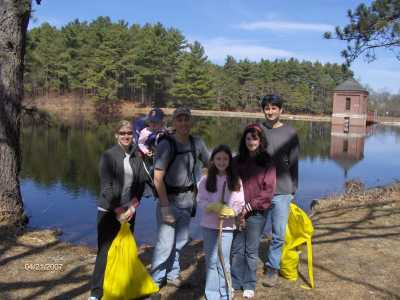 Earth Day clean up of Sandra Pond at Minute Man Park