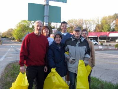 West Meadow clean-up crew